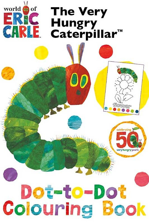 VERY HUNGRY CATERPILLAR DOT TO DOT COLOURING BOOK