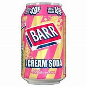 Barr American Cream Soda Can 330ml