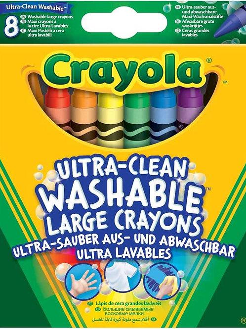 CRAYOLA 8 WASHABLE LARGE CRAYONS