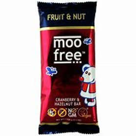 Moo Free Cranberry & Hazelnut Chocolate Bar 100g