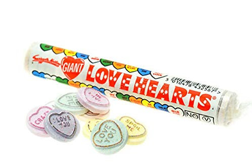Swizzels Giant Love Heart Rolls 39g