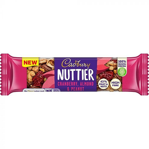 Home     Cadbury Nuttier Cranberry, Almond & Peanut Milk Chocolate Bar 40g