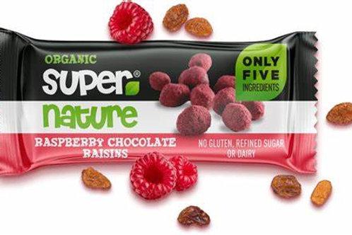 Supernature Organic Raspberry Chocolate Raisins 40g