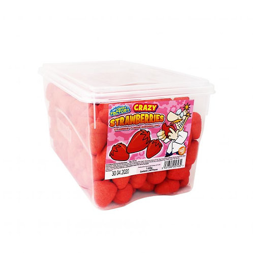 Crazy Candy Factory Strawberry Marshmallows 5p Tub