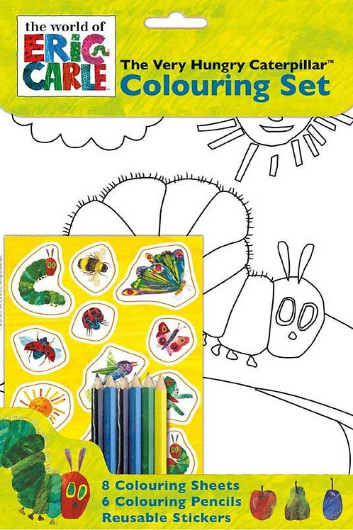 VERY HUNGRY CATERPILLAR COLOURING SET
