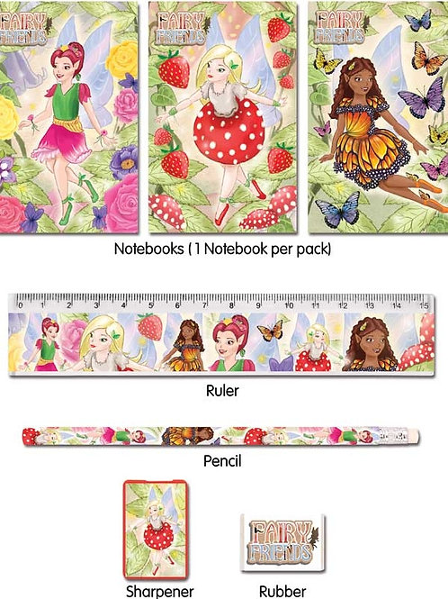 FUN STATIONERY STATIONERY SET 5 PC FAIRY