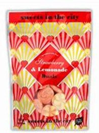 Sweets In The City Strawberry & Lemonade Fizzy Duals Pouch 50g