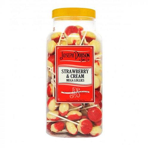 Dobsons Strawberry & Cream Mega Lollies