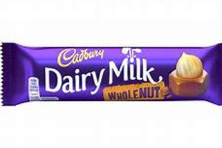 Cadbury Dairy Milk Wholenut Chocolate Bars