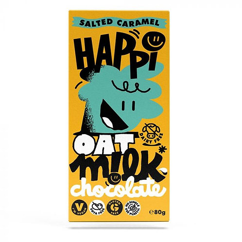 Home     Happi Oat Milk Chocolate Salted Caramel Bar 80g