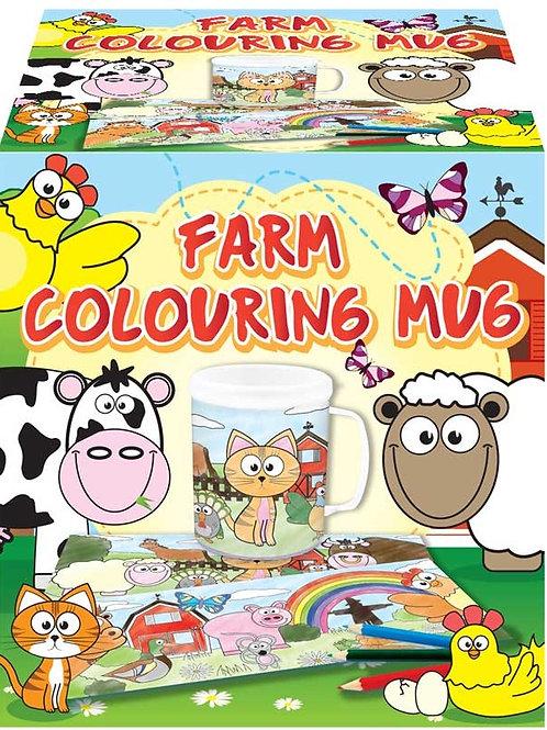 MUG COLOURING FARM ASST