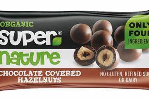 Supernature Organic Chocolate Covered Hazelnuts 40g