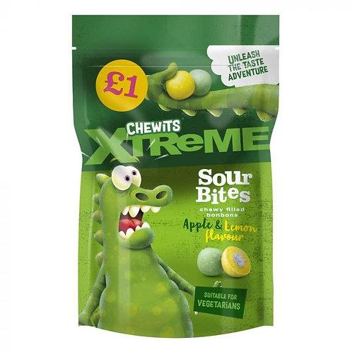 Chewits Xtreme Apple & Lemon Sour Bites £1 PMP 145g