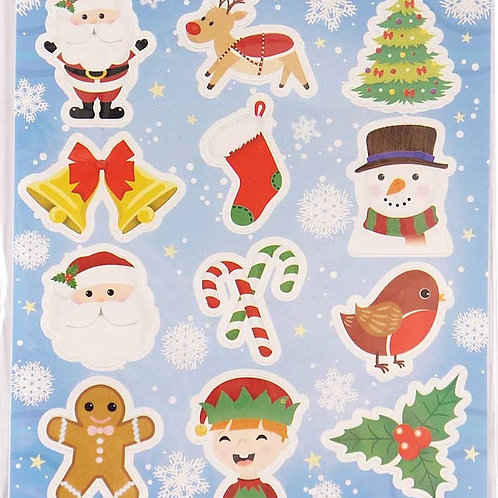 STICKERS CHRISTMAS 10 X 11CM