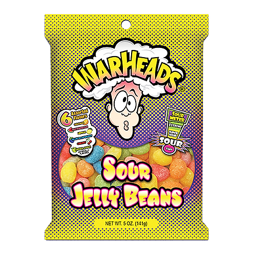 Warheads Sour Jelly Beans 141g
