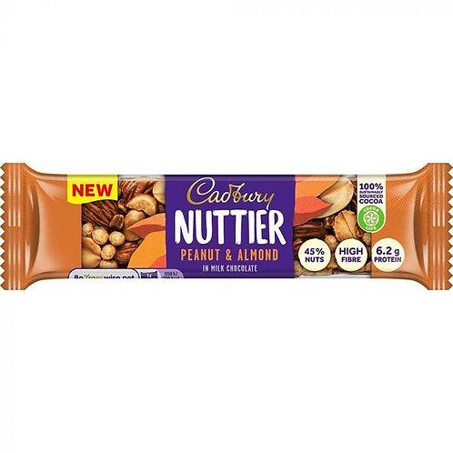Cadbury Nuttier Peanut & Almond Milk Chocolate Bar 40g
