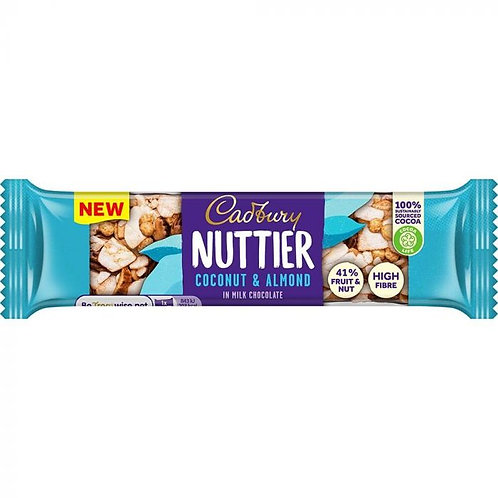 Cadbury Nuttier Coconut & Almond Milk Chocolate Bar 40g