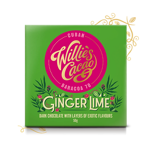 Willie's Cacao Ginger & Lime 70% Dark Chocolate Bar 50g