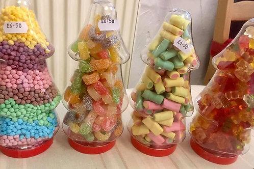 Christmas Tree Plastic Sweet Jar
