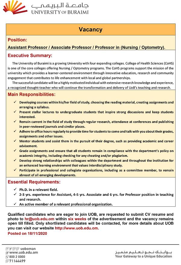 20201118 Assistant Professor -Associate