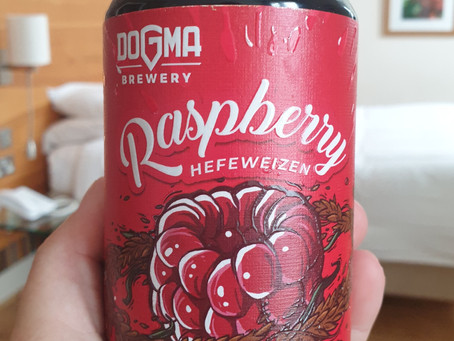 Blog #85. Dogma Brewery -  Raspberry Hefeweizen. Wei is it so berry disappointing.