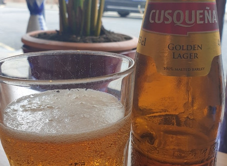 Blog #86. Cusqueña - lager. Cus' lager can be nice chu!