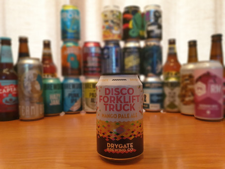 Blog #6. Drygate Brewing Co - Disco Forklift Truck. Will Ben agree with Chris's high praise?