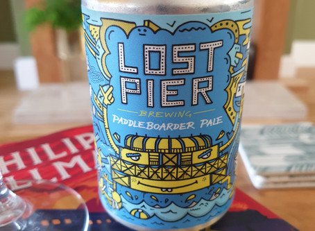 Blog #99. Lost Pier Brewing - Paddleboarder Pale. Bright on the money!