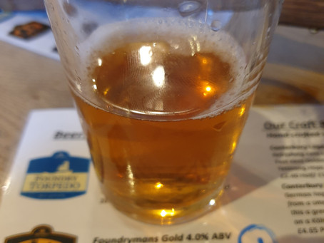 Blog #88. Foundry Brew Pub - Foundryman's Gold. (Tasting session 1/5).