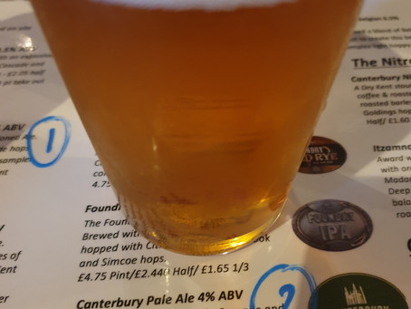 Blog #89. Foundry Brew Pub - Canterbury Pale Ale. (Tasting session 2/5).