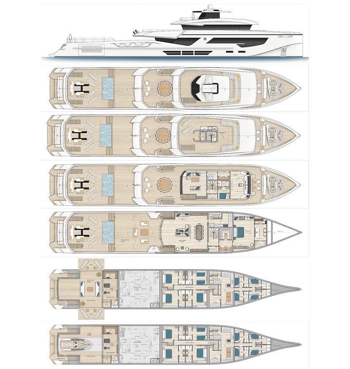 2020 Rosetti 52m Supply Vessel Drawlings