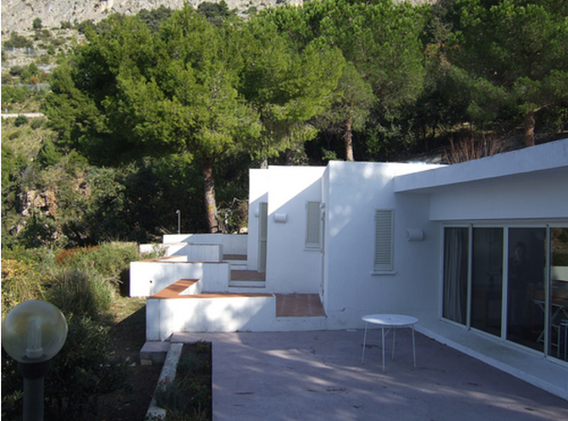 The terrace and bedroom balconies