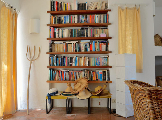 There are over 1,000 books for you to read in the villa