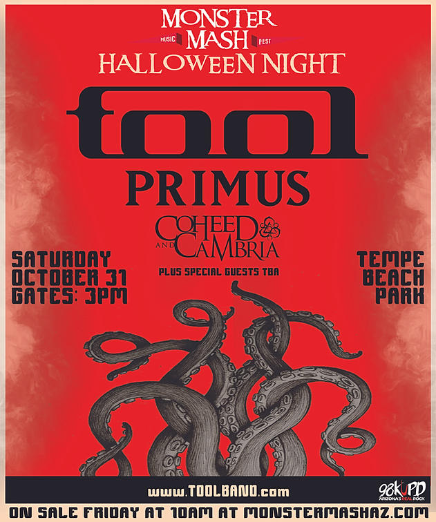 Tool Announces 'Monster Mash' Halloween Concert Featuring
