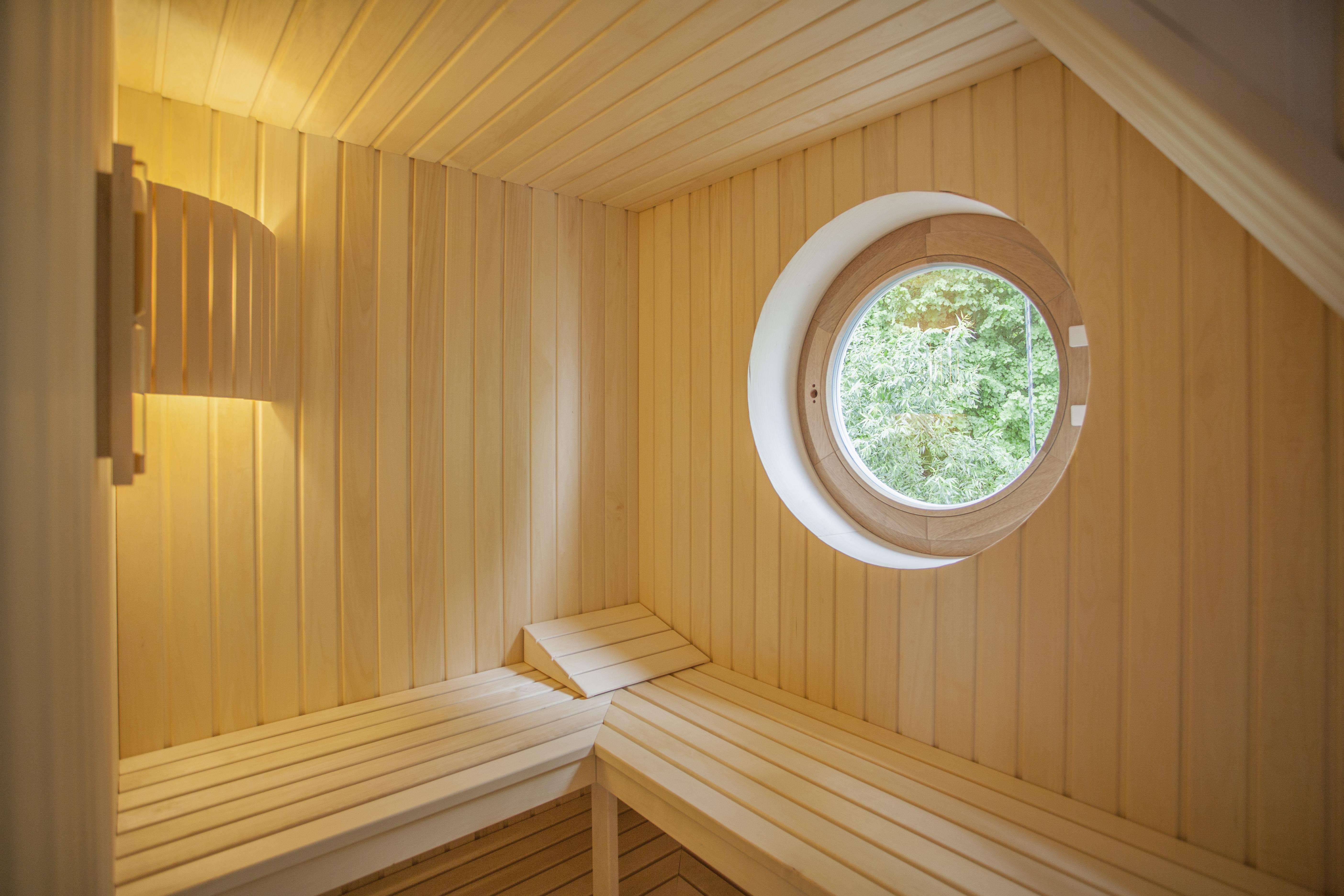 Sauna mit Wasserblick
