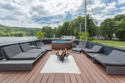 Pool Feuerschale Lounge