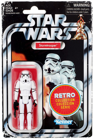 Retro Vintage Collection Figures - resculpted figures designed to look like the original Kenner figures from 1977