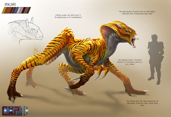 Irikari Creature Concept Sheet - Photoshop Painting
