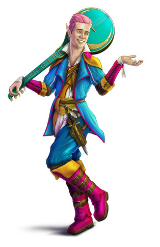 Dungeons and Dragons Character Commision - Half Elf Bard