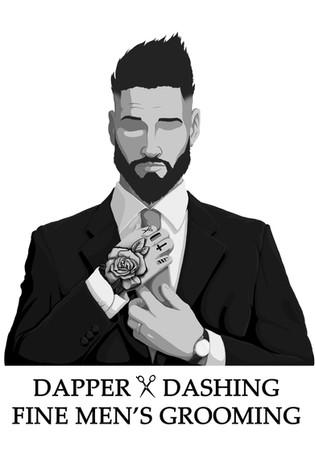 Dapper & Dashing Fine Mens Grooming Logo