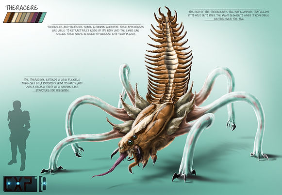 Theracere Creature Concept Sheet