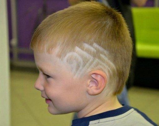 Фигурный выстриг волос