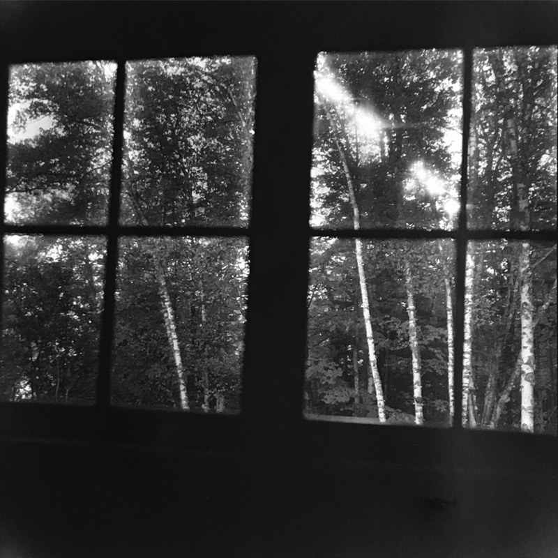 BEDROOM WINDOW, MOON TRAIL