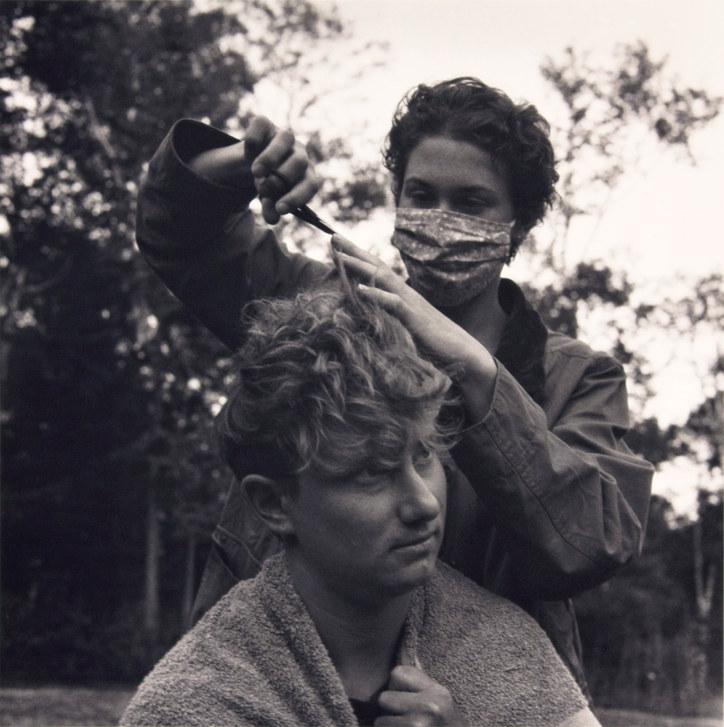 Covid Haircut: Francie & Paula