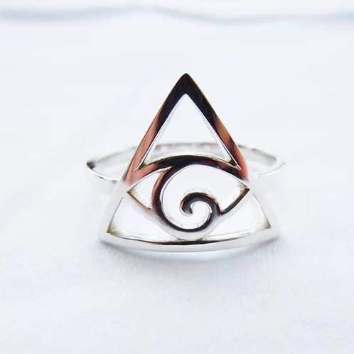 Sterling Silver Illuminati Eye Ring