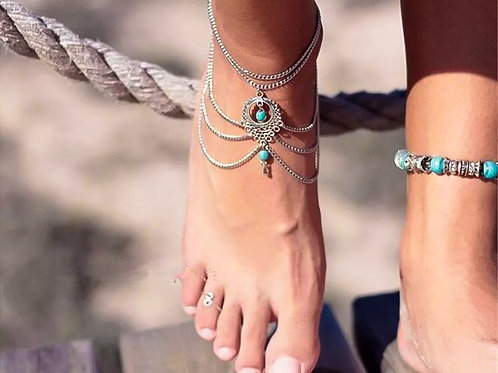 Bohemian Stone Anklet