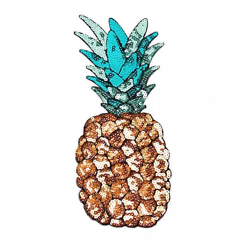 Iron on Pineapple Sequin Patch