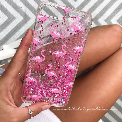 Flamingo Glitter iPhone Case