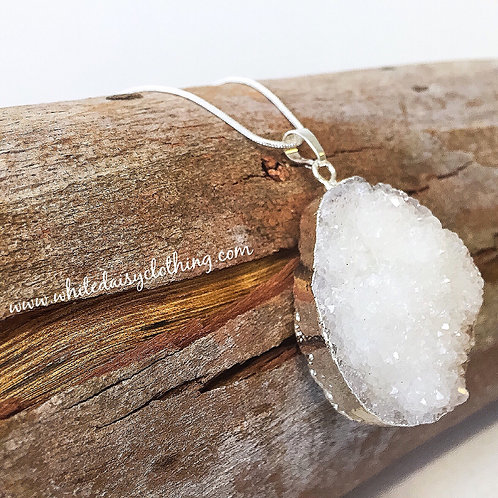 Large Raw Quartz Necklace