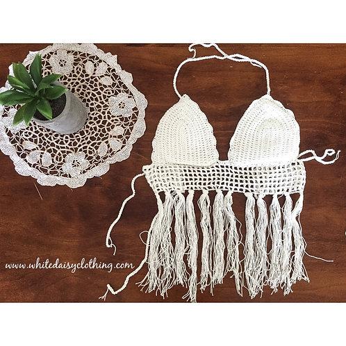 Tassel Crochet Crop Top